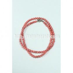 Прессованный Розовый коралл, 6 мм, 45 см