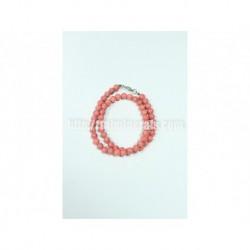 Прессованный розовый Коралл, 8 мм, 45 см
