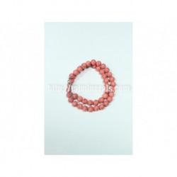Прессованный розовый Коралл, 10 мм, 45 см.