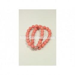 Прессованный розовый Коралл, 12 мм, 45 см