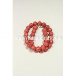Прессованный розовый Коралл 14 мм 45 см