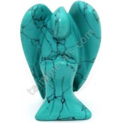 Фигурка из натуральных камней Ангел бирюза