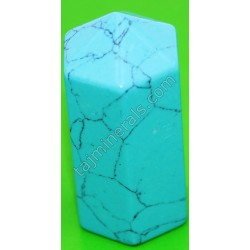 Фигурка из натуральных камней шестигран бирюза